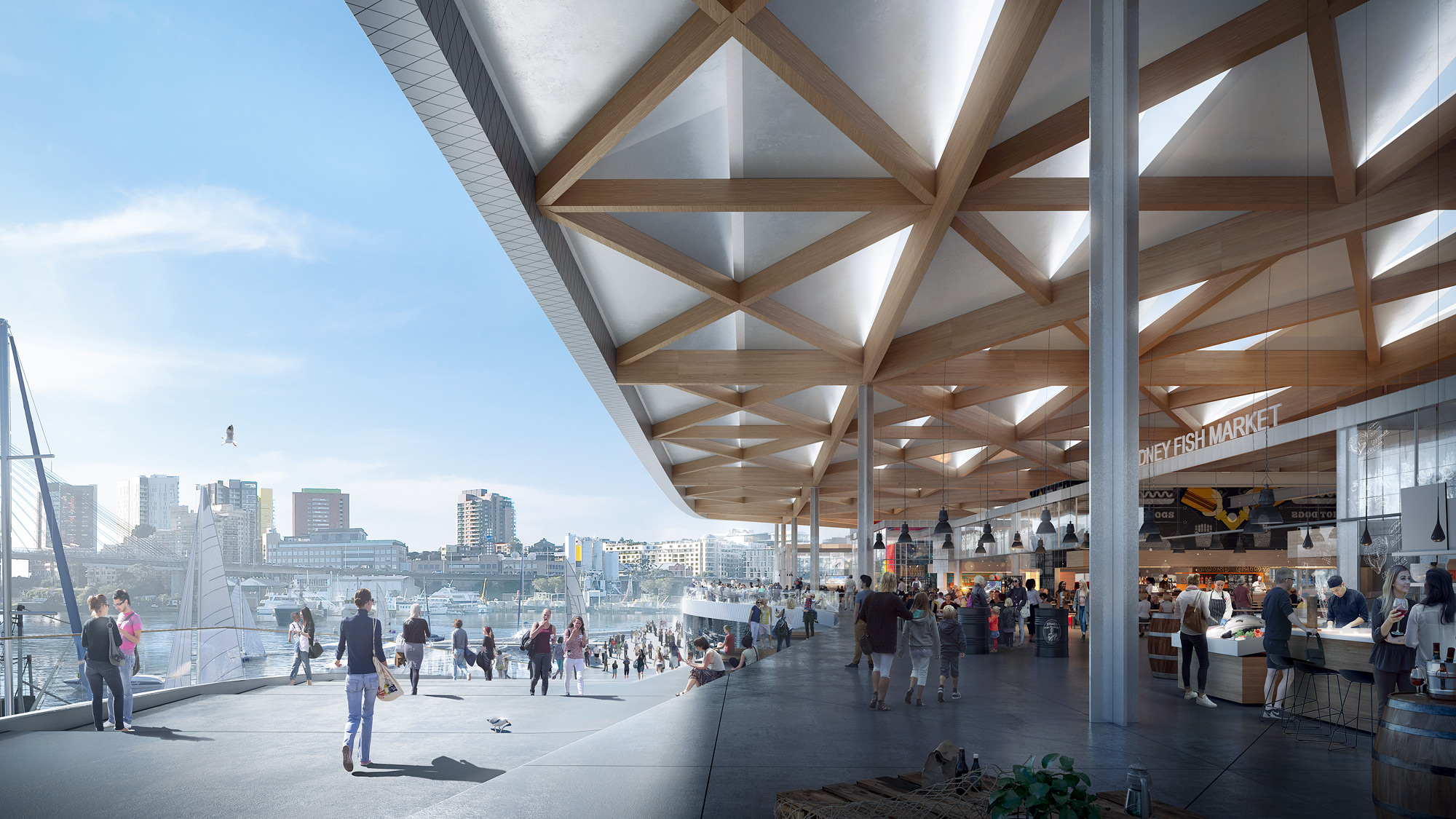 Sydney fish market. a world-class tourist and cultural attraction. | 3XN